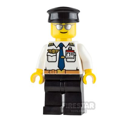 LEGO City Minifigure Airport Pilot with ID Badge