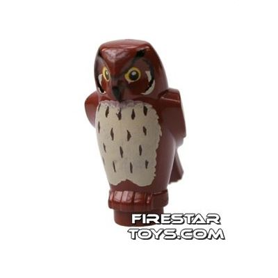 LEGO Animals Mini Figure - Owl - Reddish Brown