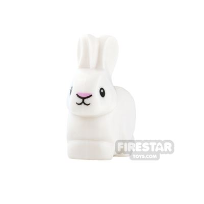 LEGO Animals Mini Figure - Rabbit - White with Pink Nose