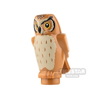 LEGO Animals Mini Figure - Owl - Medium Dark Flesh