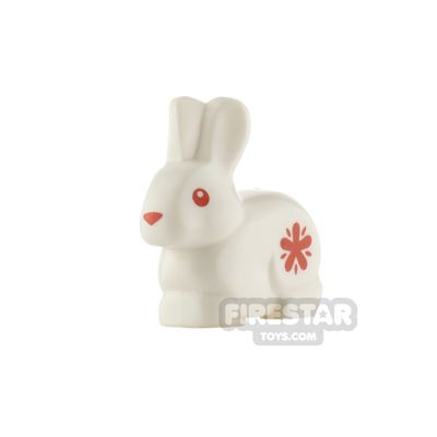 LEGO Animals Minifigure Rabbit with Red Flower