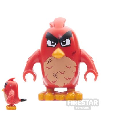 LEGO Angry Birds Mini Figure - Red - Narrow Eyes And Scratches