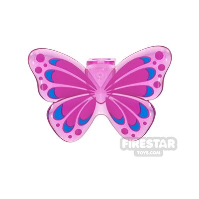 LEGO - Butterfly Wings - Trans Dark Pink
