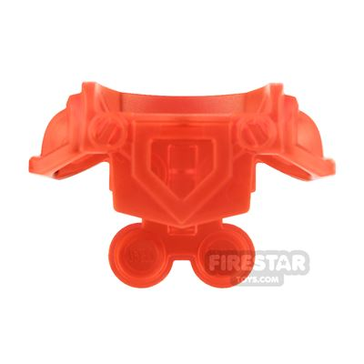 LEGO - Armour with Front Cut Out - Trans Neon Orange