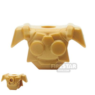 BrickWarriors - Resistance Trooper Armour - Pearl Gold