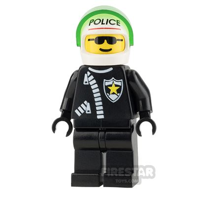 LEGO City Mini Figure - Police - Zipper with Sheriff Star