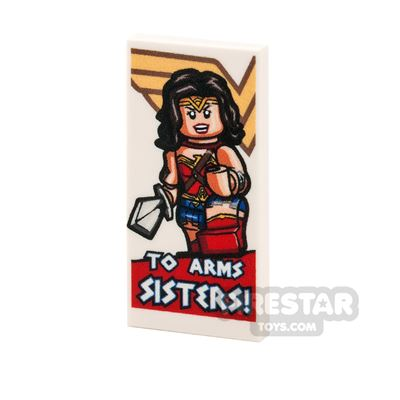 Printed Tile 2x4 - Motivational Wonder Woman Poster