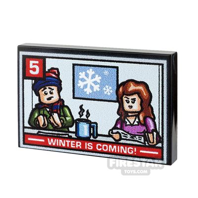 Printed Tile 2x3 - TV News Report - Winter Is Coming