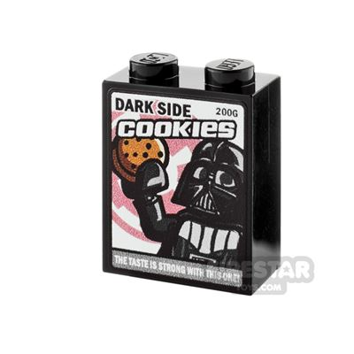 Printed Brick 1x2x2 - SW Dark Side Cookies