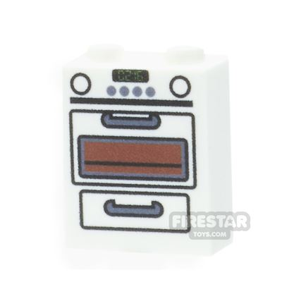 Printed Brick 1x2x2 - Cooker Oven