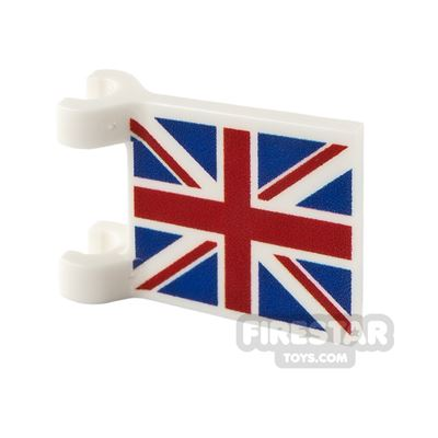 Printed Flag with 2 Holders 2x2 UK Flag