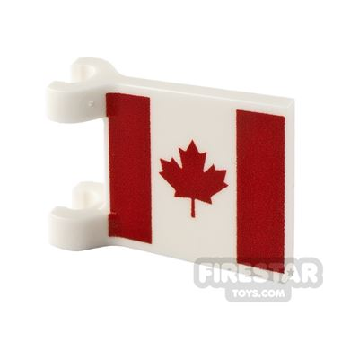 Printed Flag with 2 Holders 2x2 Canadian Flag