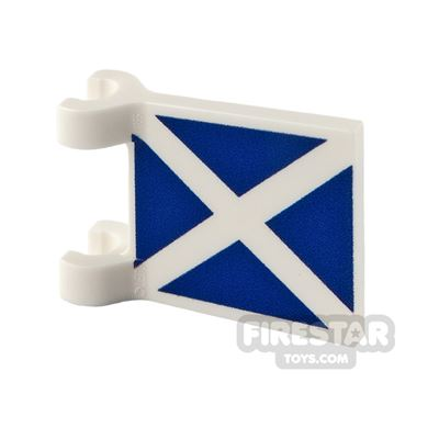 Printed Flag with 2 Holders 2x2 Scottish Flag