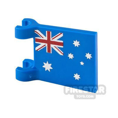 Printed Flag with 2 Holders 2x2 Australian Flag