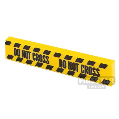 Printed Tile 1x4 Yellow Tape Do Not Cross