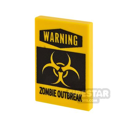 Printed Tile 2x3 Zombie Outbreak