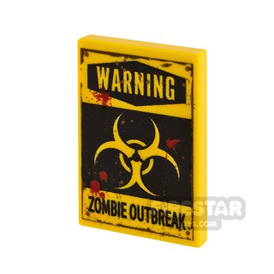 Printed Tile 2x3 Zombie Outbreak Blood Stains