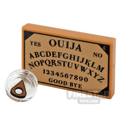 Printed Tiles 2x3 Round Ouija Board and Planchette