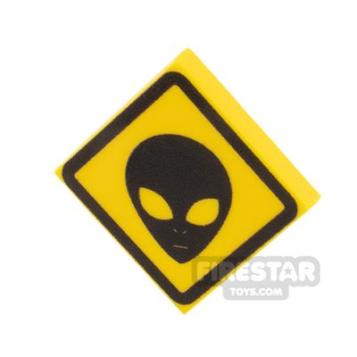Printed Tile 2x2 Alien Sign