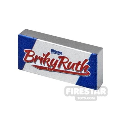 Printed Tile 1x2 Bricky Ruth chocolate