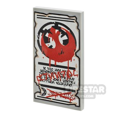 Printed Tile 2x4 - SW Imperial Graffiti Poster