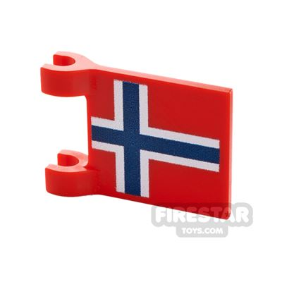Printed Flag with 2 Holders 2x3 Norweigan Flag