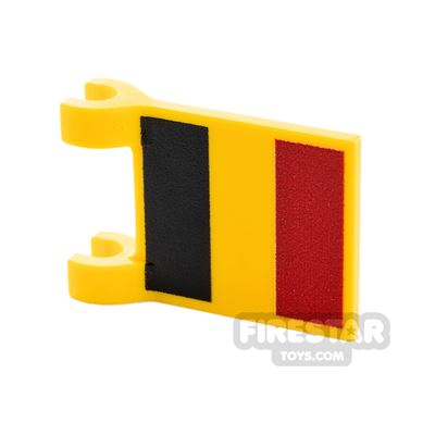Printed Flag with 2 Holders 2x3 Belgian Flag