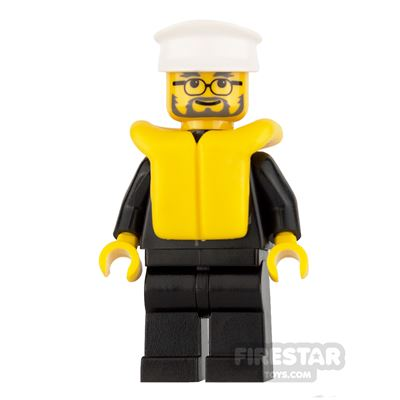 Lego City Mini Figure – Police - Life Jacket and Glasses