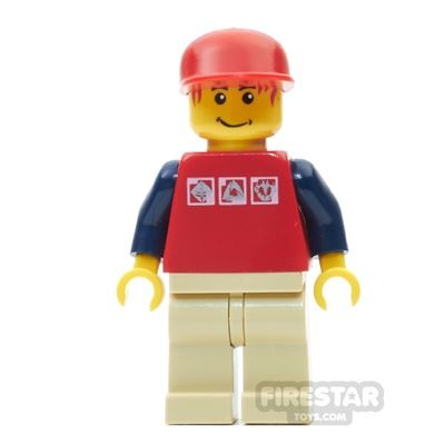 LEGO City Mini Figure - Red Hair, Cap and Gravity Games Shirt