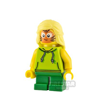 LEGO City Minifigure Girl with Cat Face Paint