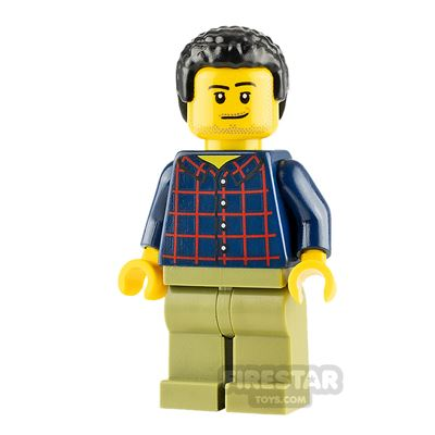 LEGO City Minifigure Dad with Plaid Shirt