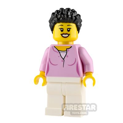 LEGO City Minifigure Mum with Bright Pink Top