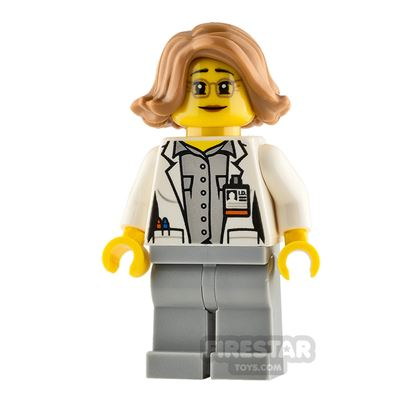 LEGO City Minifigure Botanist with Short Swept Hair