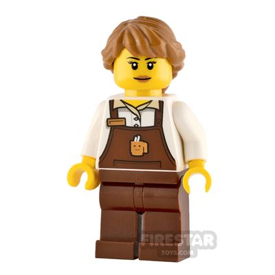 LEGO City Minifigure Barista Female with Brown Apron