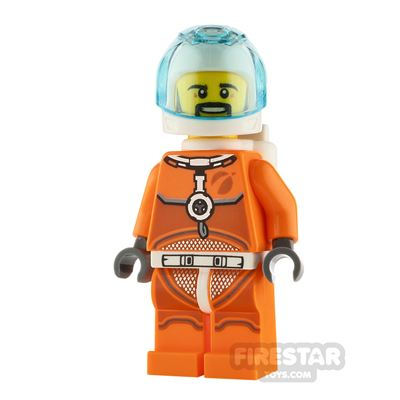 LEGO City Minifigure Astronaut Orange Spacesuit