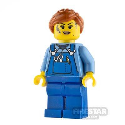 LEGO City Minifigure Mechanic with Blue Overalls