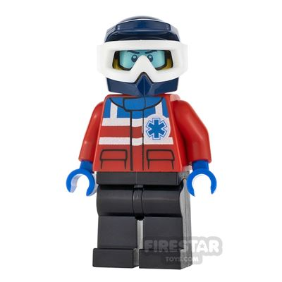 LEGO City Minifigure Ski Patrol Dark Blue Helmet