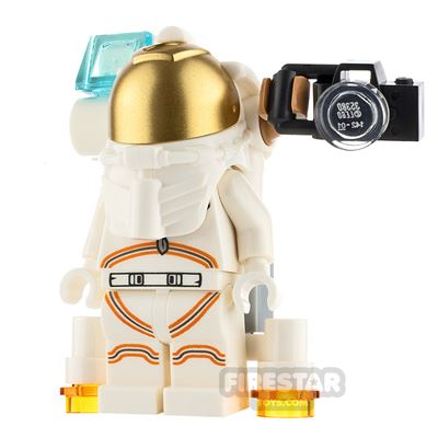 LEGO City Minifigure Astronaut with Camera and Lamp