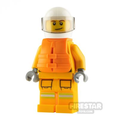 LEGO City Minifigure Firefighter with Life Jacket
