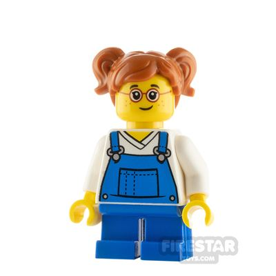 LEGO City Minfigure Girl with Blue Overalls