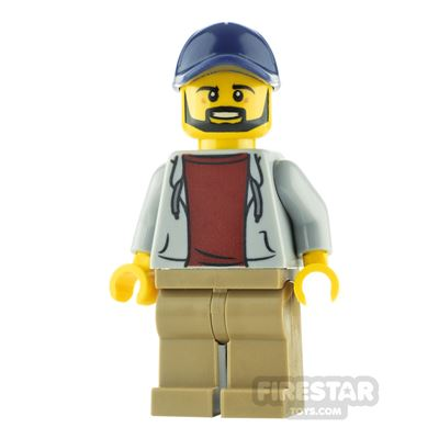 LEGO City Minfigure Dad with Gray Hoodie