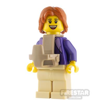 LEGO City Minfigure Mother with Baby Carrier