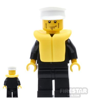 LEGO City Mini Figure - Police - City Suit - Life Jacket