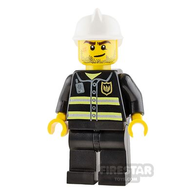LEGO City Mini Figure - Fireman - Crooked Smile with Scar