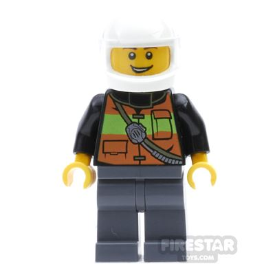 LEGO City Mini Figure - Fire - White Helmet
