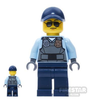 LEGO City Mini Figure - Police Officer Sunglasses and Gray Vest