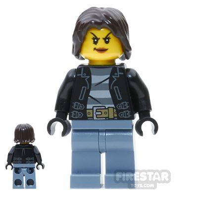 LEGO City Mini Figure - Female Bandit - Short Hair