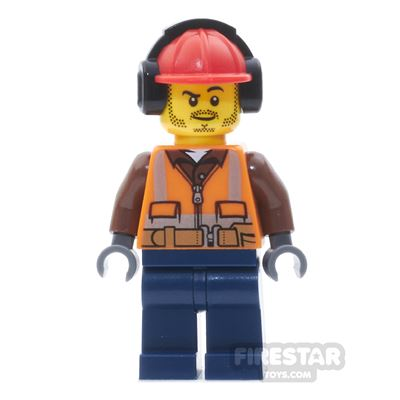 LEGO City Mini Figure - Fire - Orange Zipper, Safety Stripes