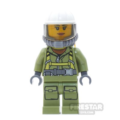 LEGO City Mini Figure - Volcano Explorer - Female, with Harness