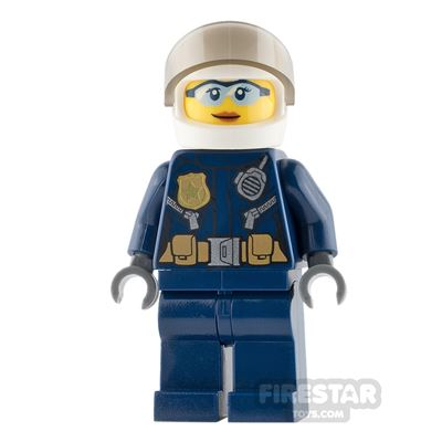 LEGO City Mini Figure - Helicopter Pilot - Female with Blue Sunglasses